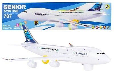 """Elektrisches Kinder Flugzeug """"Jumbo"""" mit LED und Sound, 46cm Länge!! Neu & Ovp!"""