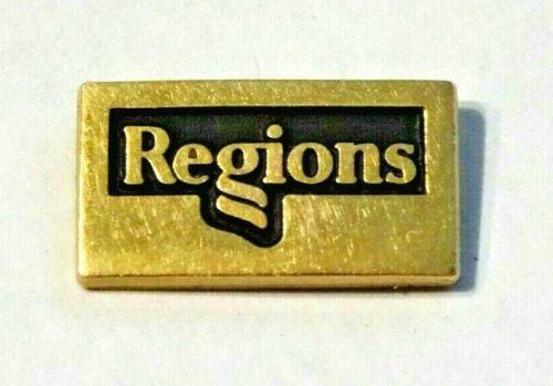 REGIONS ~ 10K GOLD FILLED REGIONS BANK PIN ~ NICE LAPEL PIN