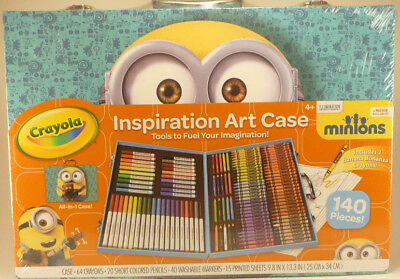 Complete Crayola Art Supply Case 140 Pieces Set Perfect Gifts for Kids & Adults