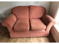 M&S fabric fireproof two seater sofa