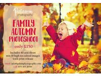 AUTUMN FAMILY PHOTOSHOOT £150 - Professional Photographer, in a London park location! Book Bow