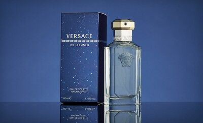 THE DREAMER BY VERSACE FOR MEN-EDT-SPRAY-3.4 OZ-100 ML-AUTHENTIC-MADE IN ITALY