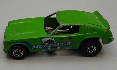 Hot Wheels Green Mustang II Fastback Funny Car 1969 Vintage