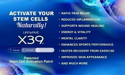 LifeWave X39 30 Patches New Elevate Activate Regenerate Stemcell-Multi benefits