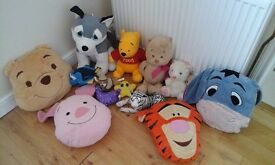 Winnie the Pooh pillows and soft toys