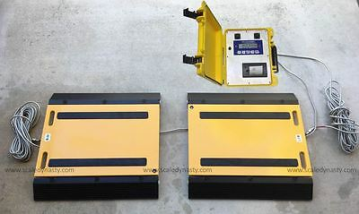 Portable Truck Scale 60000 Lbs X 10 Lb Truck Axle Scale Usa Made Indicator