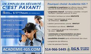 FORMATION AGENT/GUARD DE SÉCURITÉ, ON VOUS AIDE AVEC LE TRAVAI