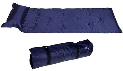 Outdoor Self-Inflating Blue Pad Picnic Hiking Camping Bed Sleeping Mat Mattress