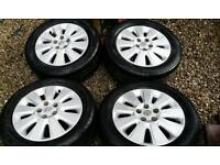 """Vauxhall vectra 16"""" inch alloy wheels and tyres"""