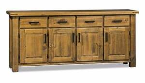 LARGE BUFFET 4 DRAW 4 DOOR SOLID PINE/ OAK DISTRESSED Thebarton West Torrens Area Preview