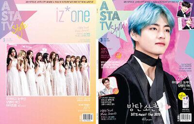 ASTA TV BTS BANGTAN BOYS IZ*ONE IZONE KOREA MAGAZINE 2019 MAR MARCH TYPE B V NEW