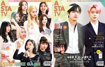 ASTA TV BTS BANGTAN BOYS TWICE IZ*ONE IZONE KOREA MAGAZINE 2019 JUNE NEW