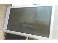 "philips 42"" tv flat screen spares or repairs"