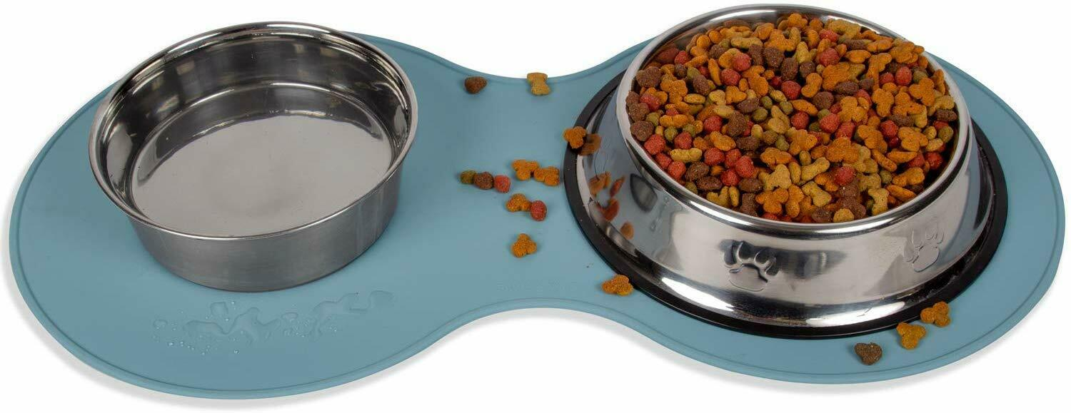 Pet Food Mat for Dog Cat Silicone Waterproof Placemat Dish Bowl Clean Feeding-LG