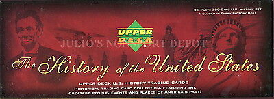 HISTORY OF THE U.S. 2004 UPPER DECK COMPLETE FACTORY BASE CARD SET OF 300