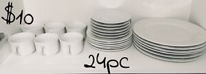 24pc Dish Set Service for 6
