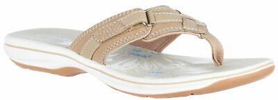 Clarks Womens Breeze Sea Flip Flops Comfort Summer Sandals
