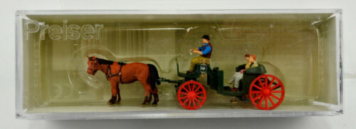 PREISER TT SCALE 75153 HORSE DRAWN CARRIAGE FIGURE SET