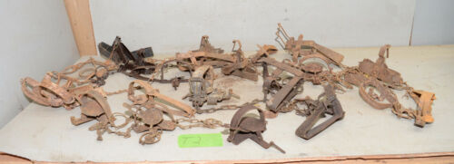 20 vintage traps collectible trappers tool cabin rustic display lot T2