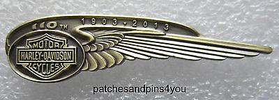 Harley Davidson 110th Anniversary Wing Logo Pin New/Rare! Free UK P&P!