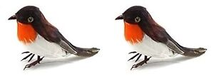 2-Christmas-Artificial-Robins-Feather-Birds-Tree-Table-Cake-Decoration-Craft-New