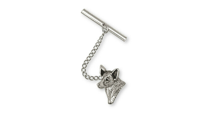 Australian Cattle Dog Tie Tack Jewelry Sterling Silver Handmade Dog Tie Tack ACD