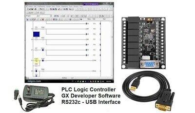 Plc Starter Kit Ladder Logic Professional Programmable Controller W Software Usa
