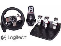 Brand new and sealed Logitech G27 steering wheel