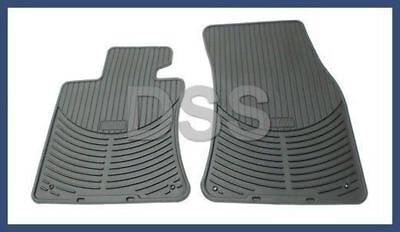 New Genuine BMW Black All Weather Rubber Floor Mats Front 650i OEM 82550309447