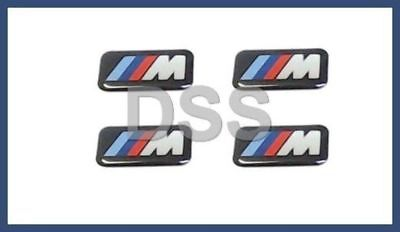 Genuine BMW Set of 4 Small M Stick-on Wheel Badge Emblem OEM 36112228660