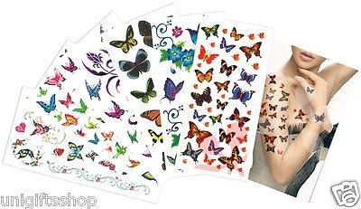 Mix Butterflies Temporary Tattoos, Elegant Butterfly Temporary Tattoos CH-A ()