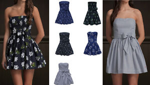 New-Hollister-Cali-Abercrombie-Womens-Dresses-STRAPLESS-2012-Summer-Style