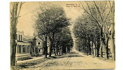 Dryden Ny   Main Street   Residential Section   Postcard