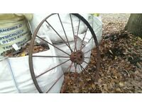 Vintage Cast Iron Wheel.