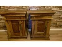 John Lewis Indonesian Oak bedside tables