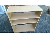 Bookcase / Shelf unit - Beech effect (no back)