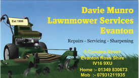 Lawnmower and Garden Machinery Sales Service Sharpening and repair