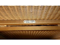 LLOYD LOOM 1950'S GOLD FINISH LAUNDRY BASKET, original label, very good condition