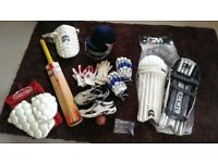 Full set of cricket gear - ladies/youth