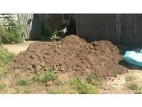 Free top soil and bricks