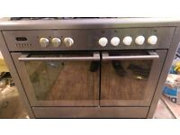 Baumatic Stainless Steel Front 5 Burnet Gas Cooker and Electric Oven Commercial