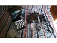 Xbox 360, 11 games, HDMI, 2 controllers, headset