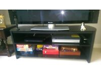 Black Ash effect TV stand