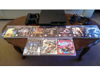 PlayStation 3, 10 games, 2 controllers