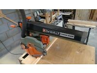 DeWalt Powershop DW125 Radial Arm Saw with Stand Bench + Paper Manual