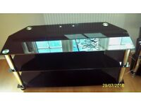 Black Glass TV Stand - 3 Tier