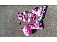 Cosmic Inline Roller Skates with Helmet and Protective Accessories