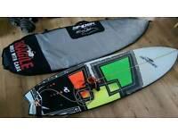 Spider 'Fish Bomb' Surfboard & accessories