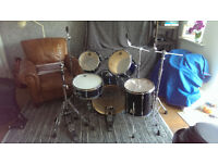 Tama SuperStar 5-pc drum kit (as new) - Midnight Blue - Hardware, Cases, Practice pads