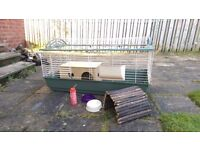 Small animal cage suitable for guinea pigs or rabbits